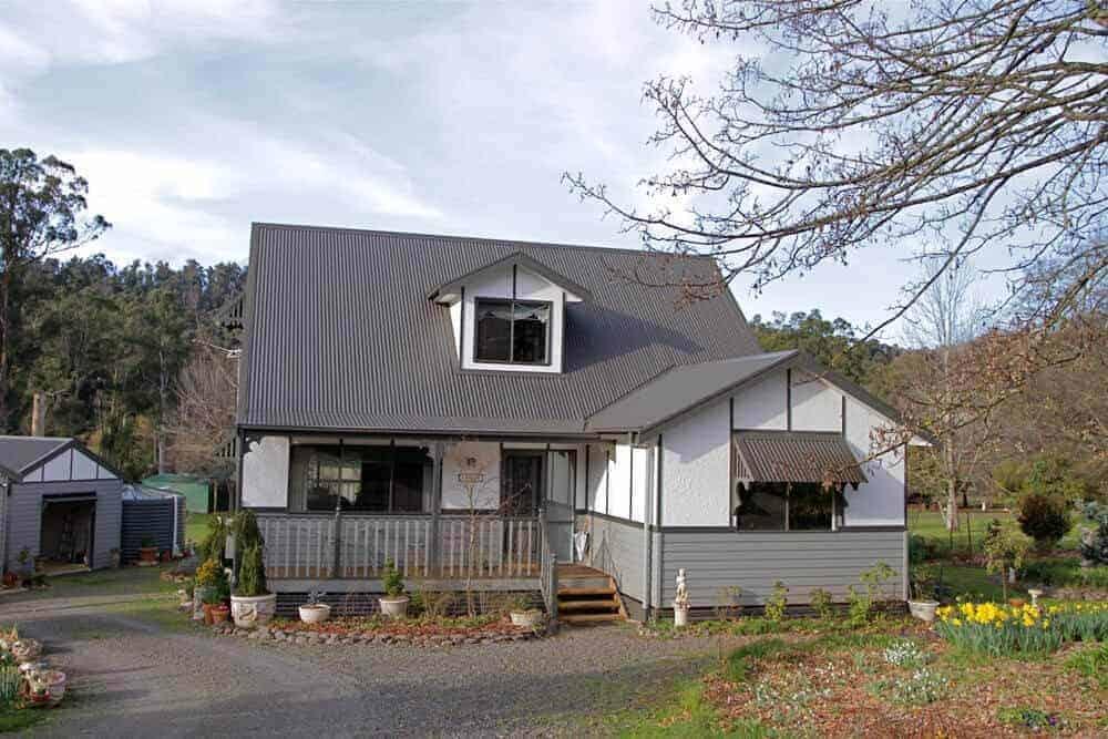 custom built house with attic